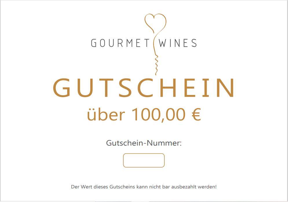 Gourmet-Wines Gutschein über €100,00