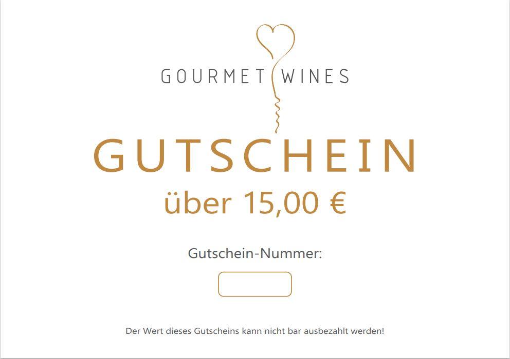 Gourmet-Wines Gutschein über €15,00