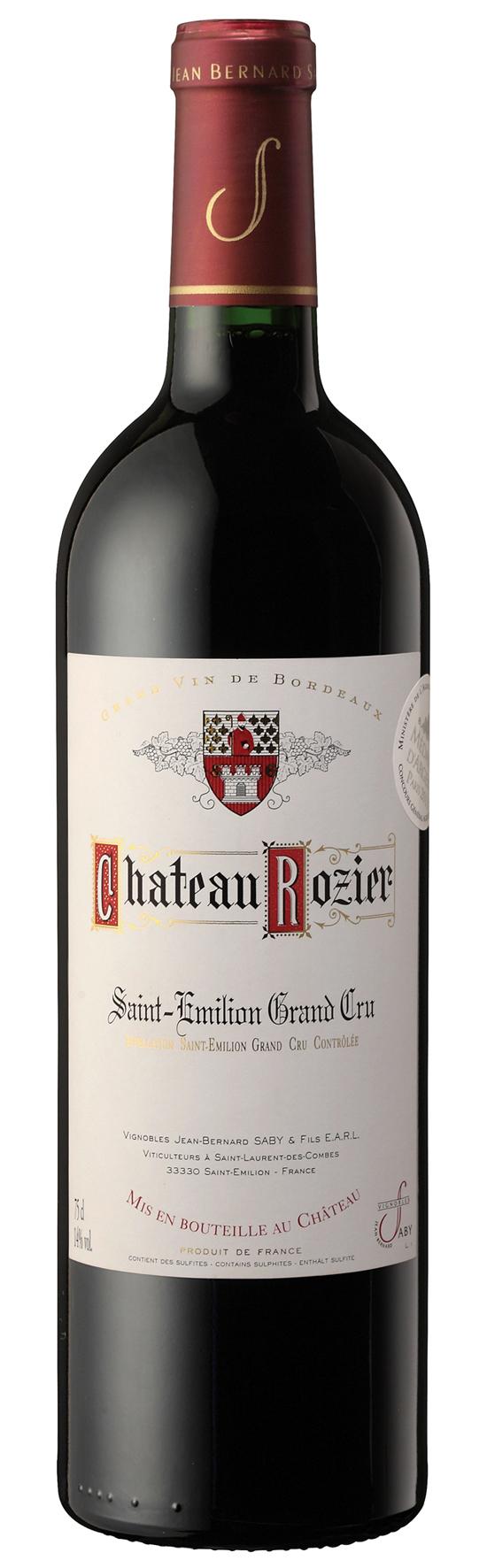 Famille Saby Chateau Rozier Saint-Èmillion AOC Grand Cru 2018