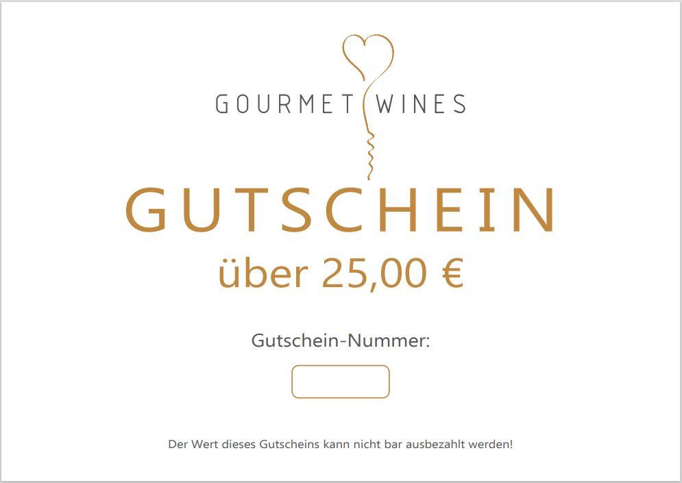 Gourmet-Wines Gutschein über €25,00