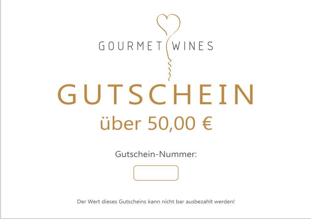 Gourmet-Wines Gutschein über €50,00